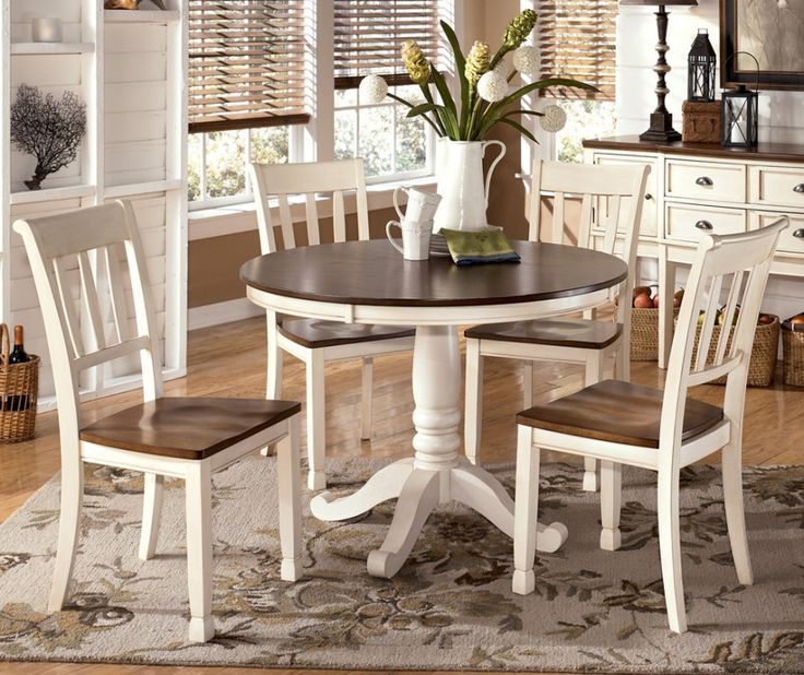 Cozy Varied Round Dining Table Sets and Their Kinds: Simple Dining Set Wooden round kitchen table and chairs