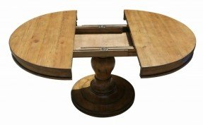 Awesome extension-round-pedestal-reclaimed-wood-dining-table.jpg ( round pedestal dining table with leaf