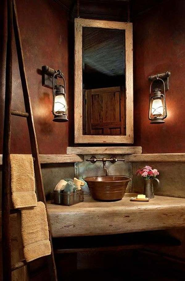 Beautiful ... rustic-bathroom-ideas-22 rustic bathroom decor ideas