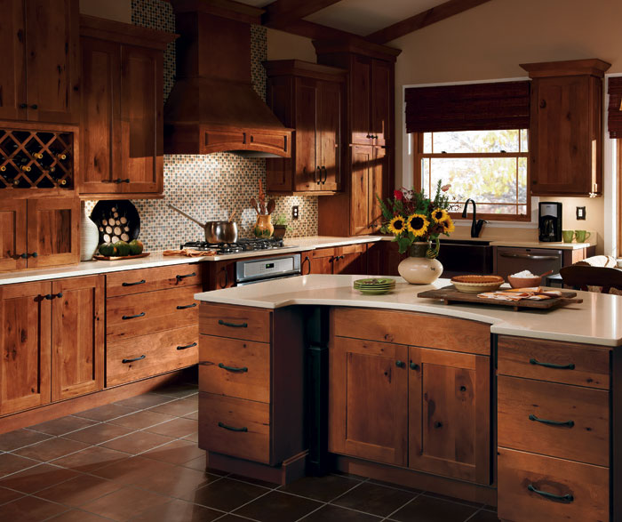 Photos of ... Rustic Hickory kitchen cabinets by Homecrest Cabinetry ... rustic hickory kitchen cabinets