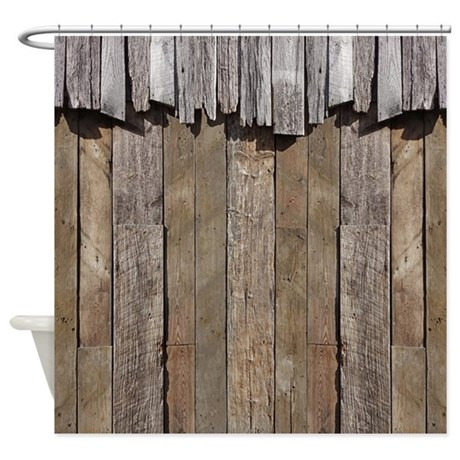 Ideas of Rustic Old Barn Wood Shower Curtain by rebeccakorpita rustic shower curtains
