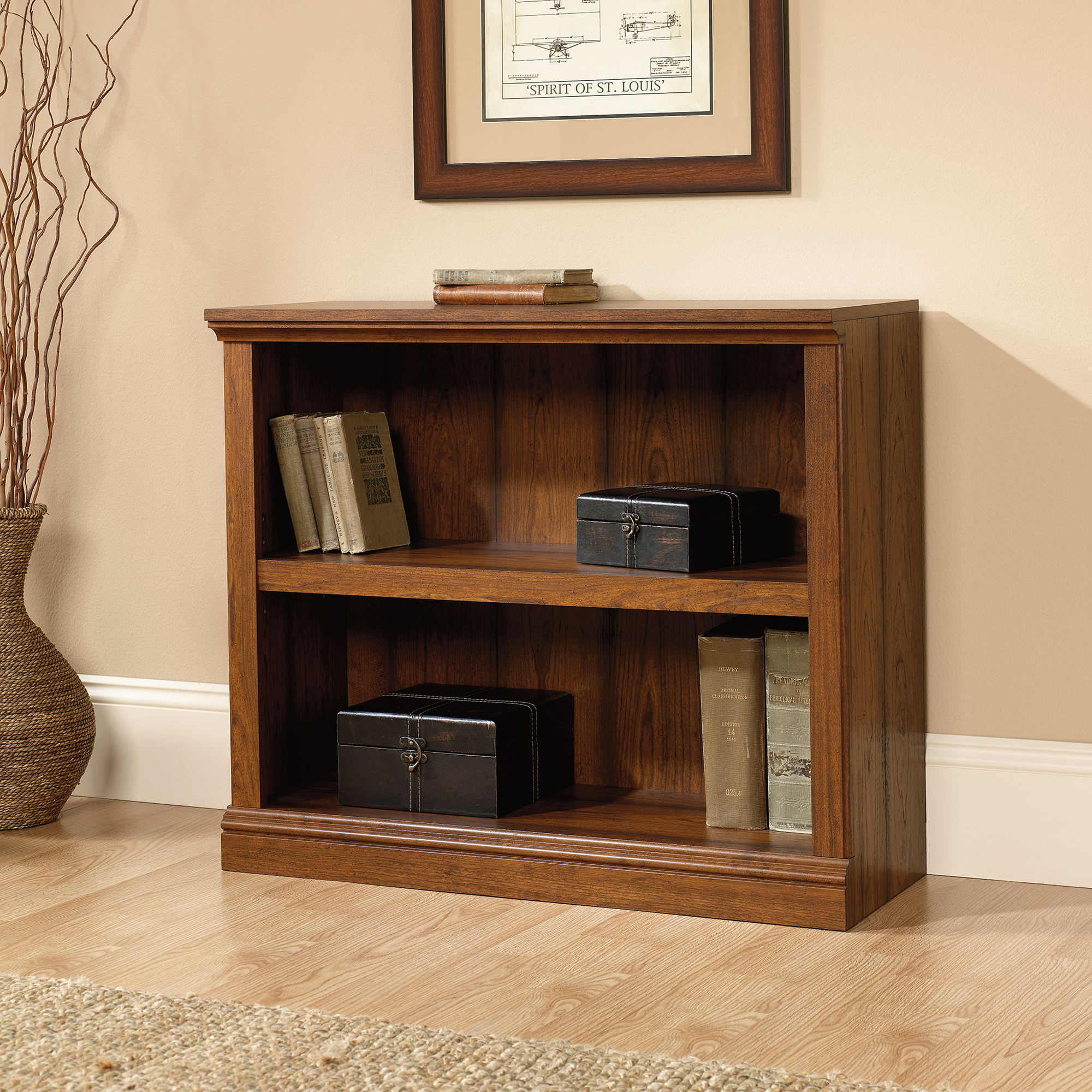 Chic 2-Shelf Bookcase ... sauder 2 shelf bookcase