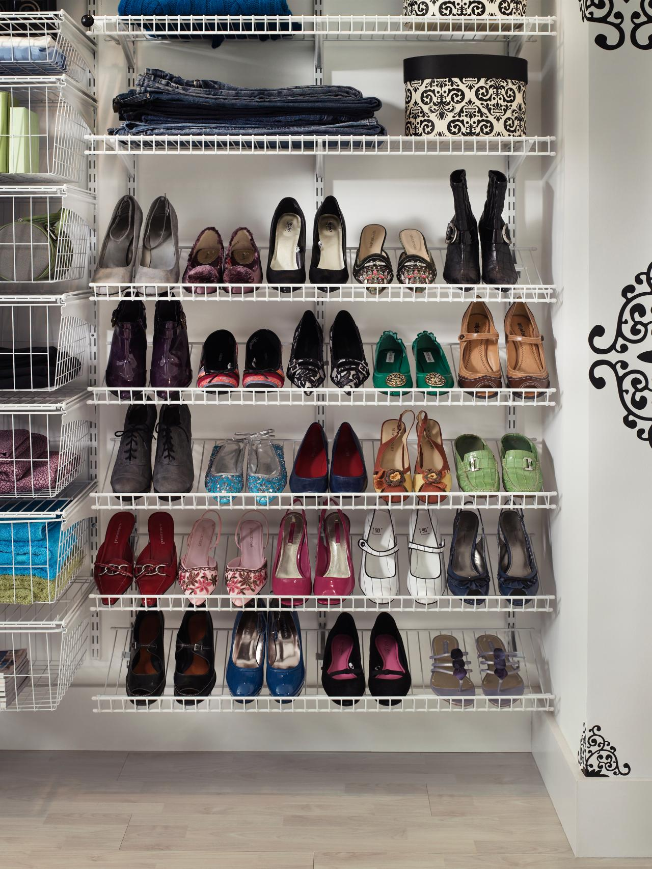 Create A Decent E With The Shoe Racks For Closets