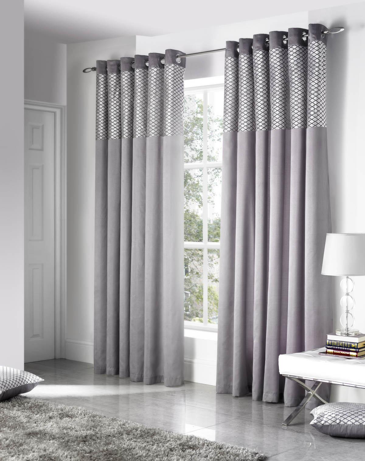 Decorate your home with silver curtains