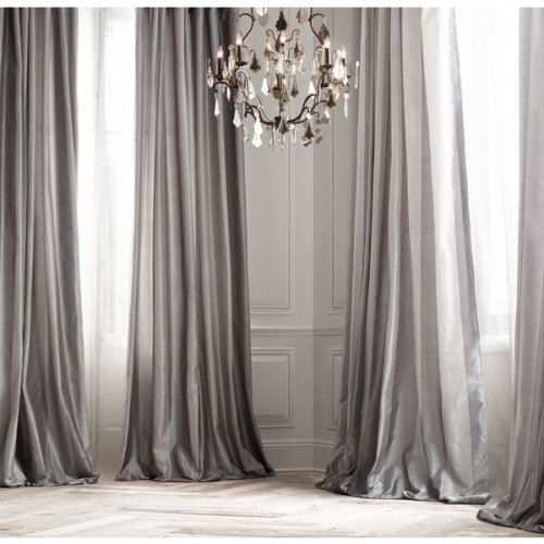 Decorate your home with silver curtains for Cortinas gris plata