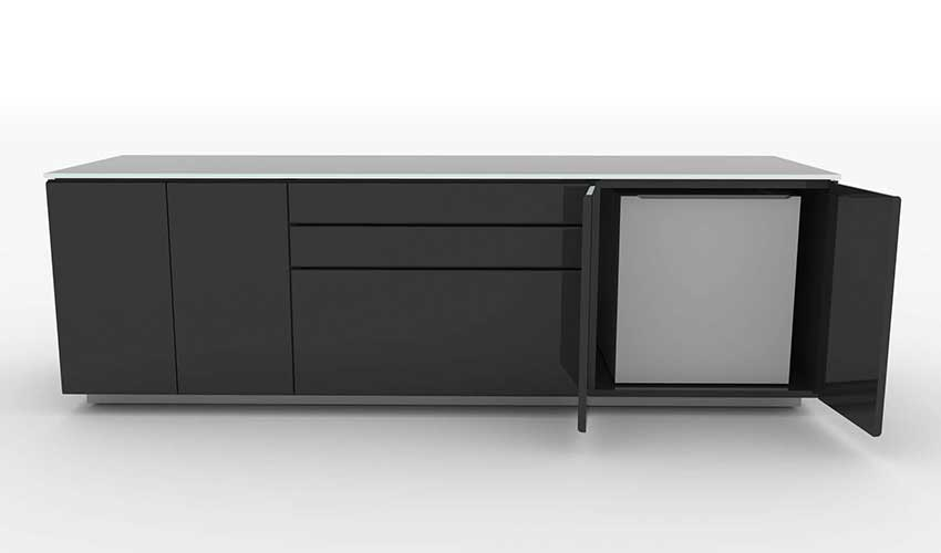 Charmant Simple Credenza Fridge Storage Office Credenza With Refrigerator
