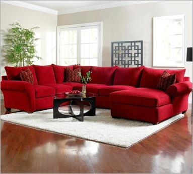 simple shop for the klaussner fletcher sectional sofa at sheelyu0027s furniture u0026 red sectional sofa - Red Living Room Furniture