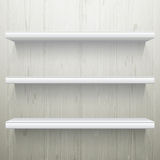 Simple White wood background shelves Stock Photography white wooden shelves