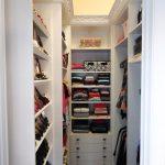 Having a stroll in walkin closet in your home