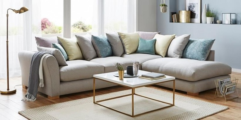 Cute Martine L Shape Sofa Set Cream sofa set l shape design