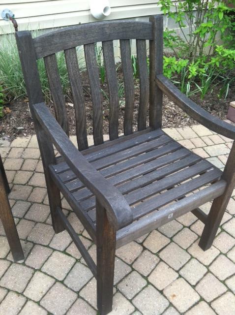Cute teak chair ... staining teak outdoor furniture