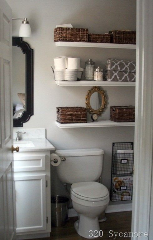 Stunning 21 Floating Shelves Decorating Ideas small bathroom decor ideas