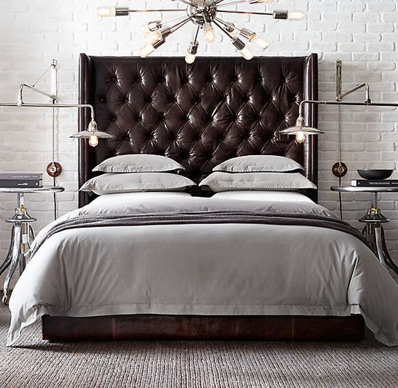 Stunning 36 Chic And Timeless Tufted Headboards bed leather headboard