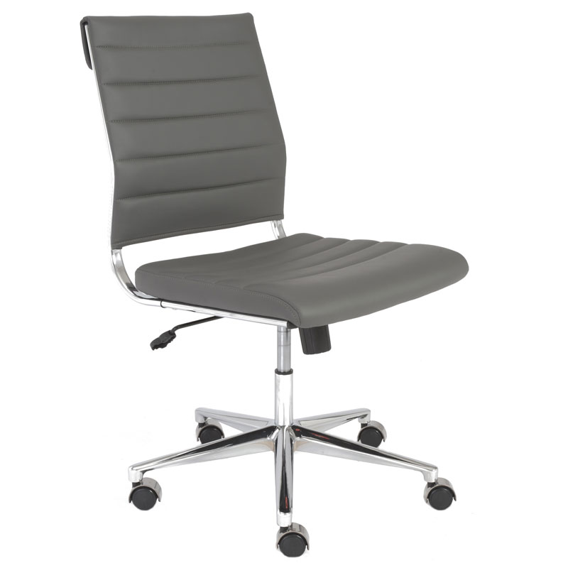 Stunning alex armless low back office chair in white contemporary office chairs