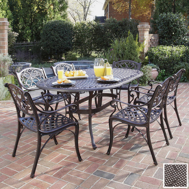 Stunning Aluminum versus Wrought Iron Outdoor Patio Furniture wrought iron patio table