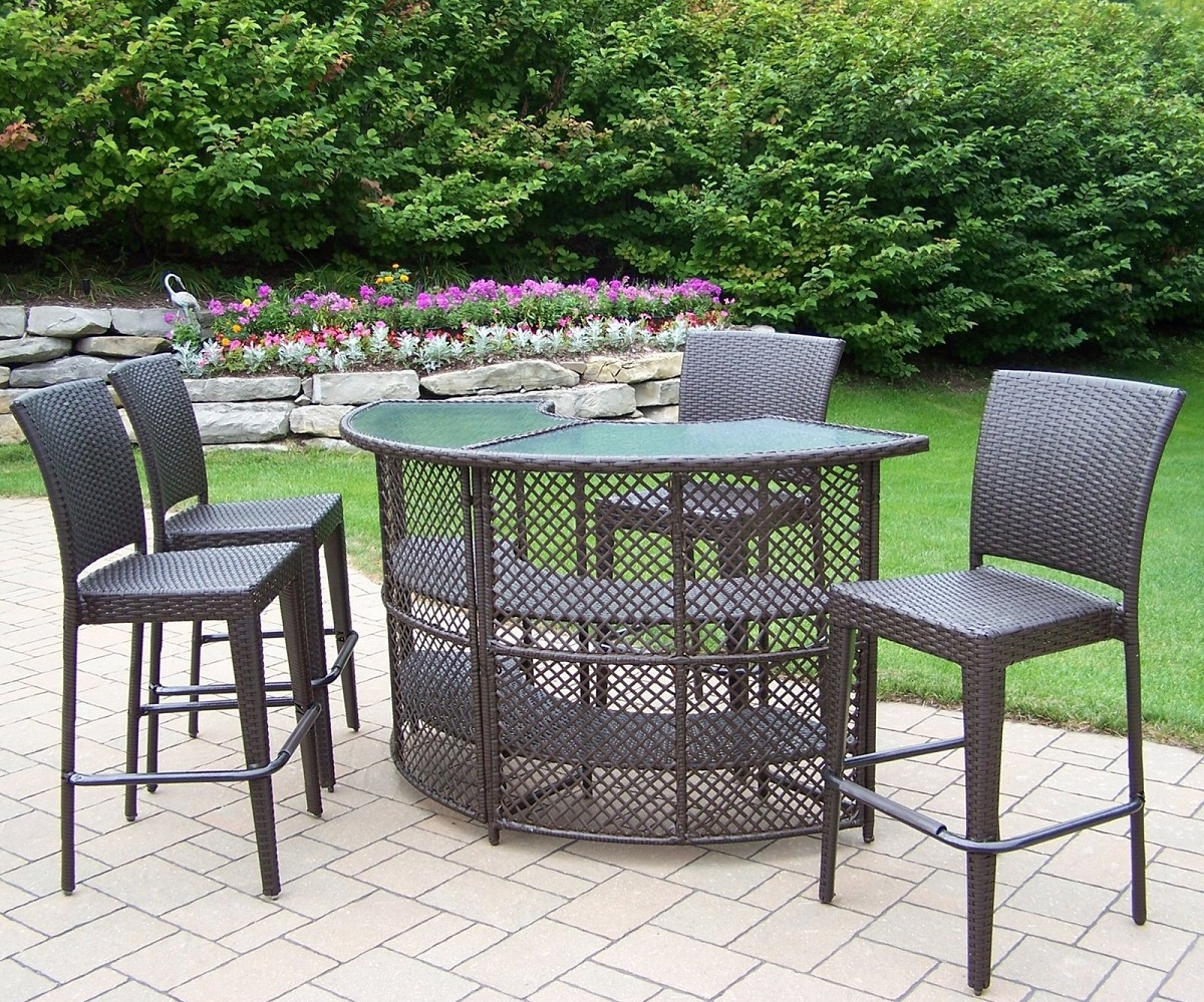 Stunning bar height patio table and chairs bar height patio set