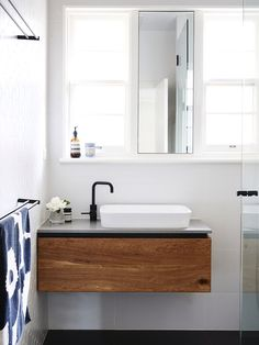 Stunning bathroom idea. Timber VanityWood VanityModern Small ... small floating bathroom vanity