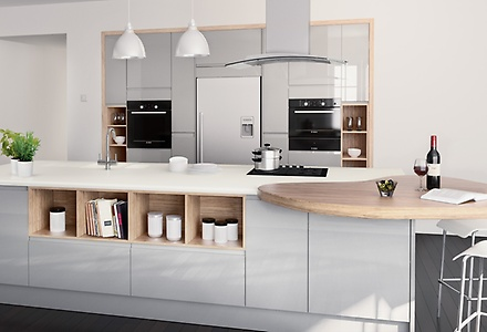 Contemporary kitchen units home design for Home base kitchen units