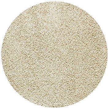 Stunning Cream 6u0027 Round Shag Rug round shag rug