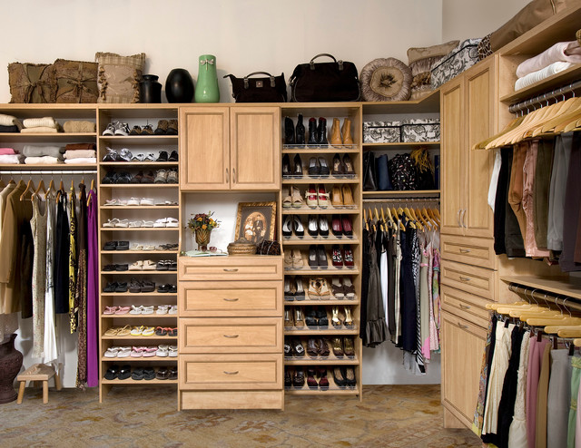 Stunning Custom Walk-In Closet Organizers: Candlelight contemporary-closet walk in closet organizers
