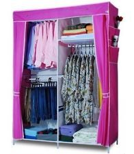 Stunning Details about Large Portable Wardrobe Organizer Clothes Garment Storage  Closet Rack- portable wardrobe with cover