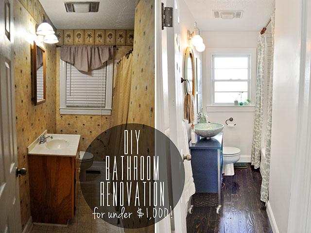 Stunning DIY Budget Bathroom Renovation Reveal diy bathroom renovation