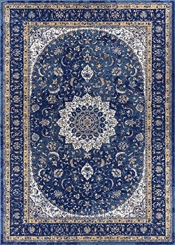 Stunning Djemila Medallion Blue Vintage Persian Floral Oriental Area Rug 5 x 7 blue oriental rugs