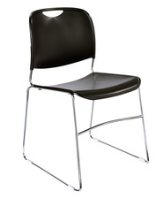 Stunning Hi-Tech Ultra Compact Black Plastic Stack Chair By National Public Seating, plastic stacking chairs