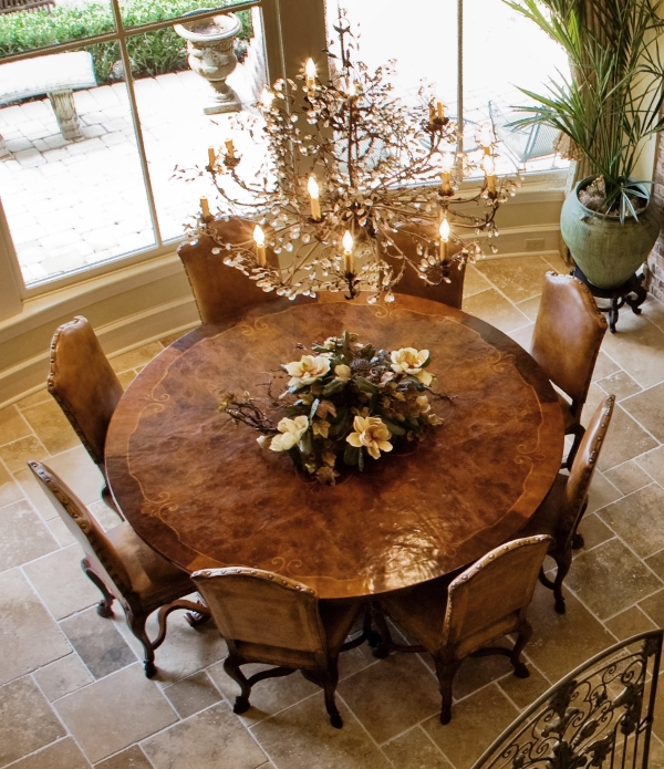Stunning if i ever have a dining room again, i will have a round formal round dining room sets