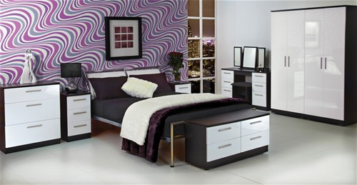 Stunning Knightsbridge High Gloss Finish (Over 25 Colour Combinations) black high gloss bedroom furniture ready assembled