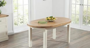Stunning Mark Harris Cheyenne Oak and Cream Oval Extending Dining Set with 6 oval extending dining table