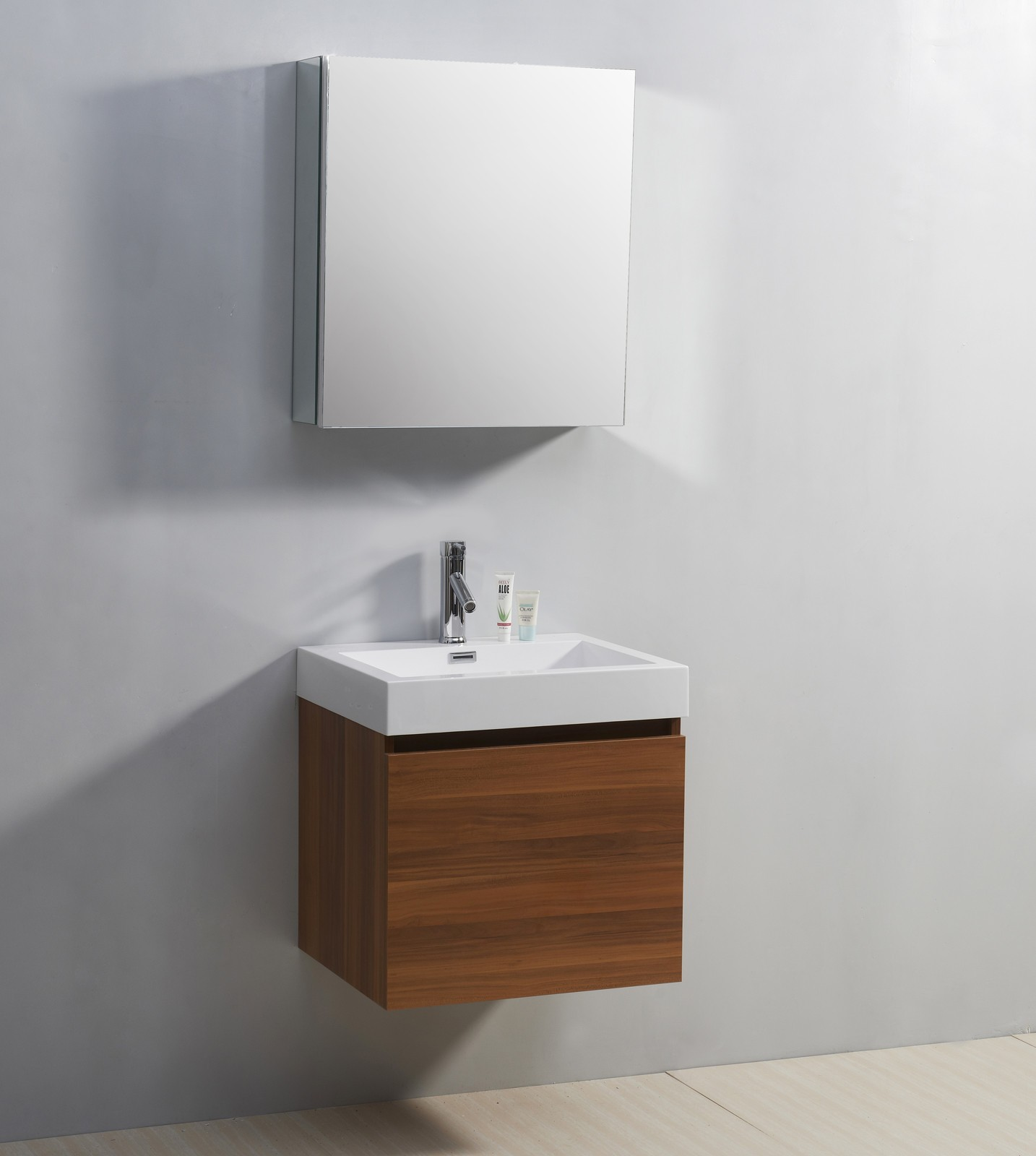 Stunning Minimalist Idea of Floating Bathroom Vanity Made of Wooden Material with  White small floating bathroom vanity
