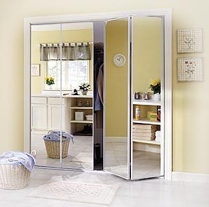 Stunning Mirrored Bifold Closet Doors. See More. I like that we have a mirrored bifold closet doors