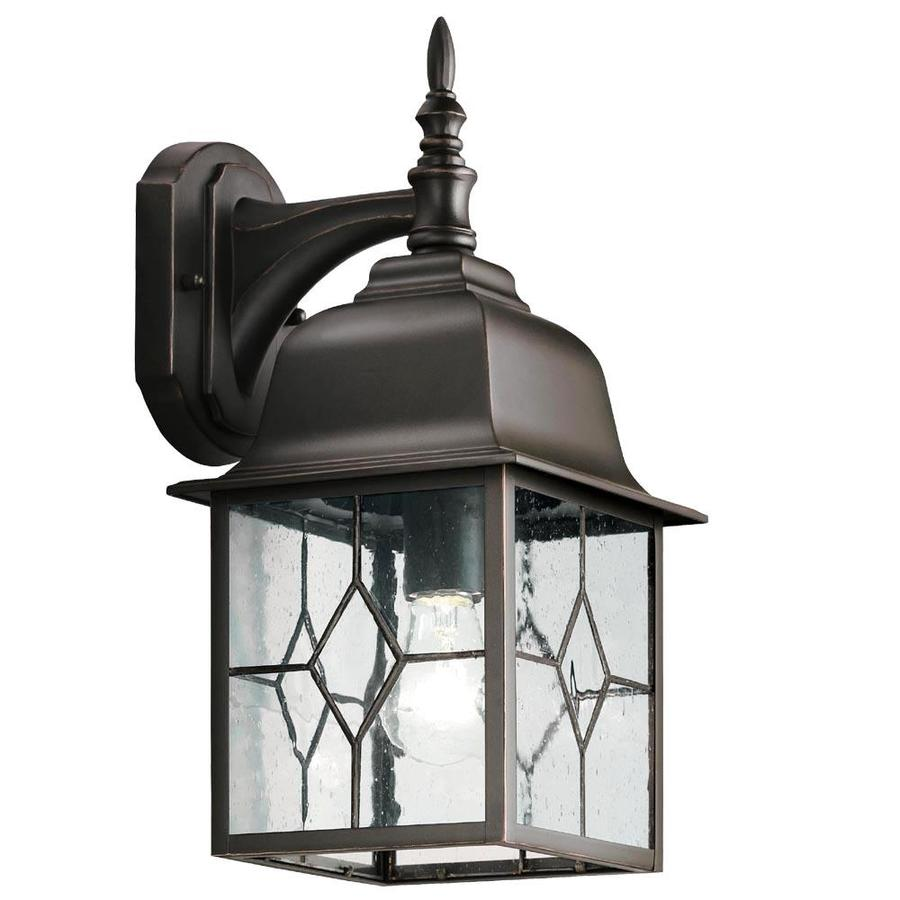 Stunning Portfolio Litshire Oil-Rubbed Bronze Outdoor Wall Light outdoor wall lighting fixtures