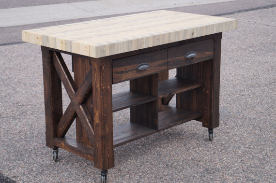 Stunning Reclaimed Wood Kitchen Island With Butcher Block Top reclaimed wood furniture