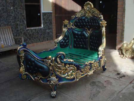 Stunning Rococo Bed | Rococo Bedroom Furniture | Custom Hand Made Bedroom Furniture rococo bedroom furniture