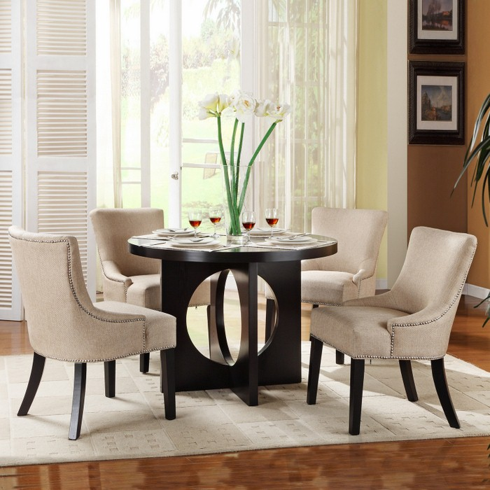 Stunning Round Table Dinette Set Lilac Design With Regard To Round White Dining Room contemporary round dining room sets