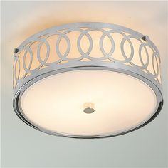 Stunning Small Interlocking Rings Flush Mount Ceiling Light flush bedroom ceiling lights