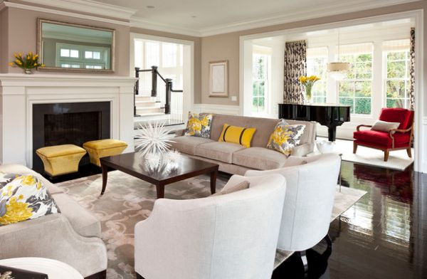Stunning View in gallery Fabulous yellow accents brought about using trendy throw accent pillows for sofa
