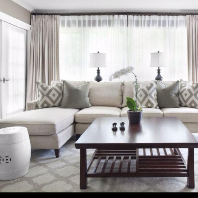 Stylish 25 Pretty Patterned Interiors living room curtain ideas modern