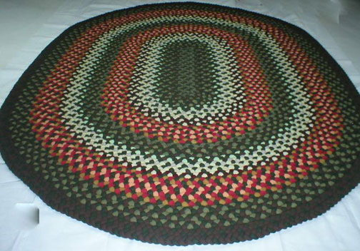 Stylish 7u0027 X 9u0027 Oval Braided Rug.  oval braided rugs