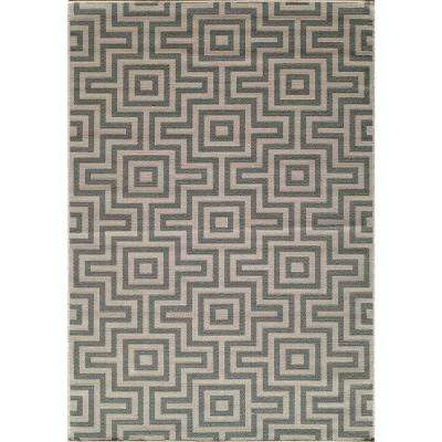 Stylish Baja Grey 5 ft. 3 in. x 7 ft. 6 in. Indoor momeni outdoor rugs
