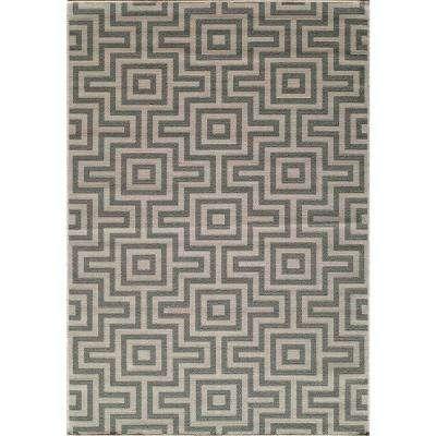 Stylish Baja Grey 5 ft. 3 in. x 7 ft. 6 in. Indoor momeni outdoor rugs