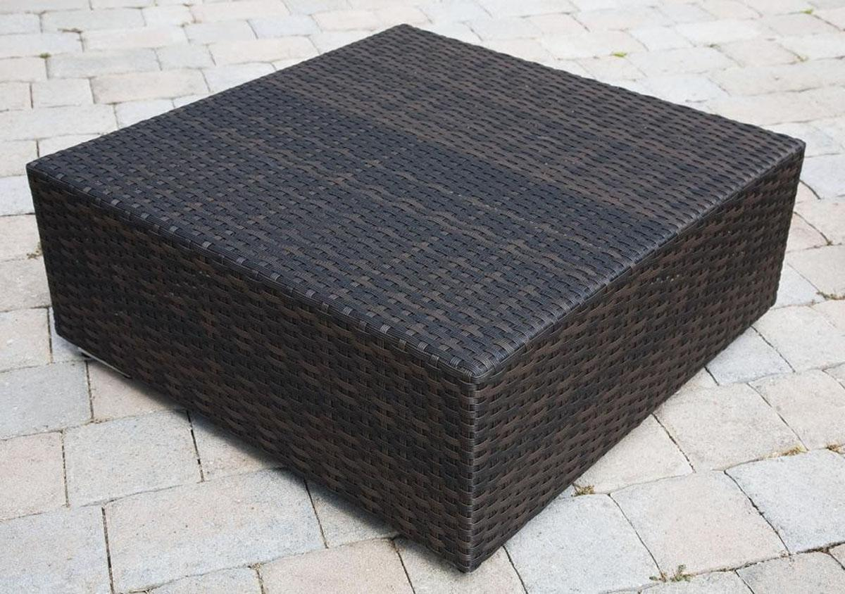 Stylish ... Coffee Tables Ideas, Square Big Outdoor Wicker Coffee Table Large wicker coffee table outdoor