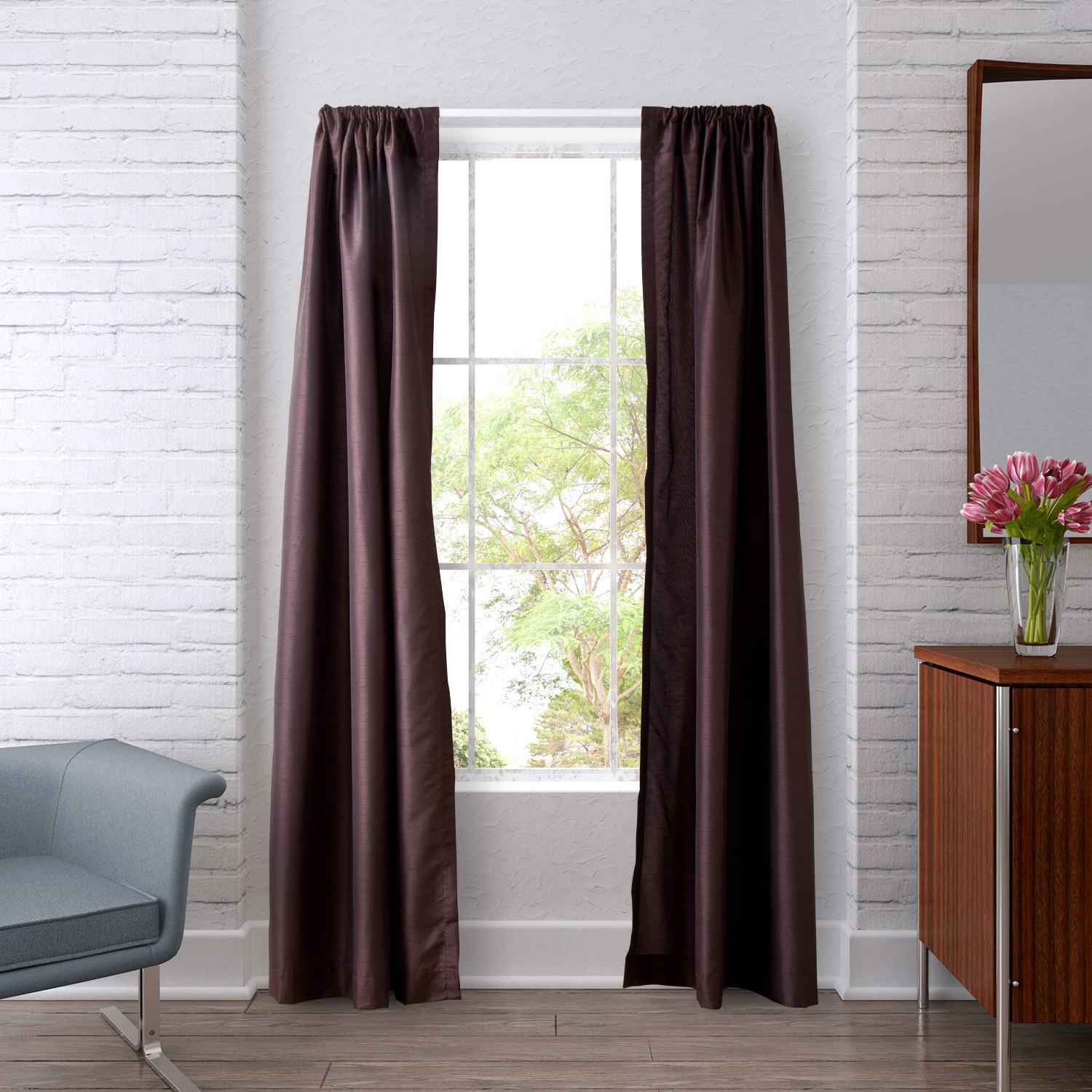 Stylish Heritage Landing Lined Window Curtain Panels window curtain panels