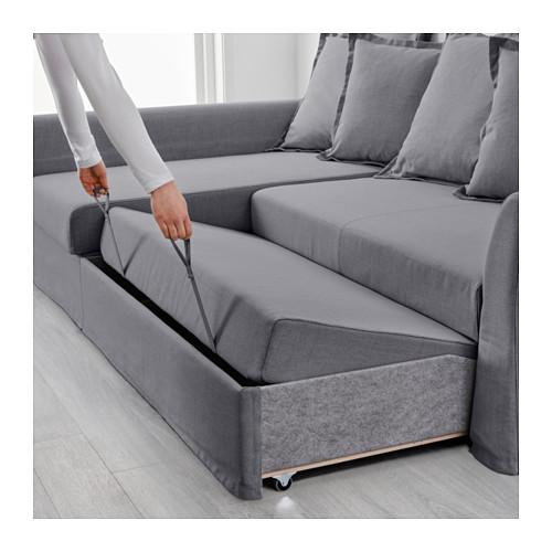 Stylish ... IKEA HOLMSUND corner sofa-bed Cover made of extra hard-wearing  polyester corner sofa bed