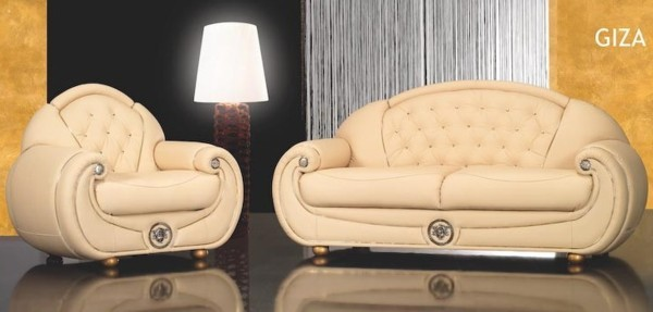 Stylish Italian leather sofa sets Giza and Ramses luxury italian leather sofas
