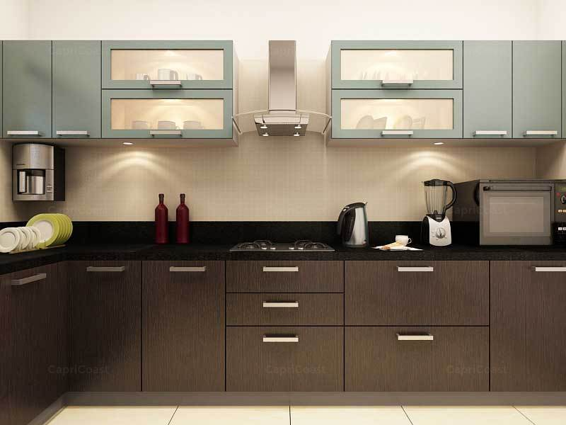 Get an attractive cooking area with modular kitchens for Kitchen trolley designs for small kitchens