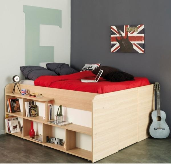 Stylish Parisot Space Up Double Bed - Childrens Funky Furniture - 1 childrens funky furniture