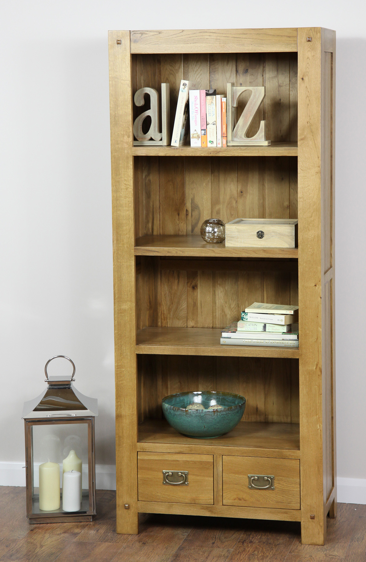 Store Your Book Treasures In Ease With Oak Book Case
